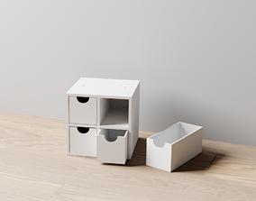3D printable model 006M LA Unit Medium 2x2 Drawer Storage