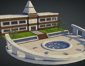 3D Realistic Highly-Detailed Luxury Hotel