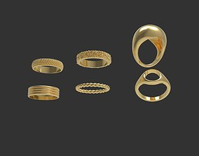 Minimalistic ring collection p2 3D printable model