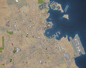 Qatar - full country - 200x110km 3D model