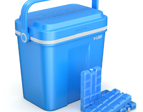3D model Cooler Box With Icepack