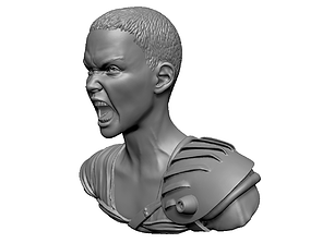 Charlize Theron Furiosa from Mad Max Fury 3D print model