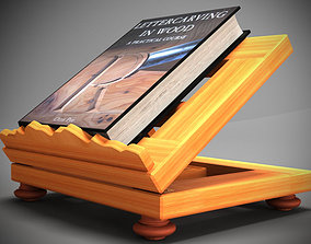 Book on lectern 3D
