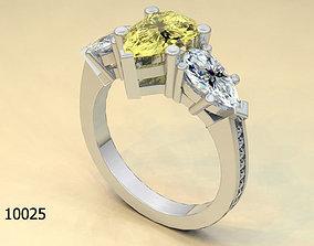 3d gemstone 3D printable model Ring