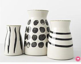 3D PBR Hand Painted Vases - Accessories