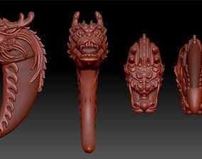 beautiful 3D print model Bear Claw Pendant