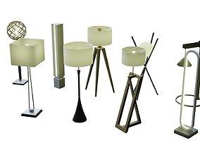 Modern Floor Lamp Vol 01 3D model