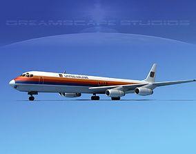 Douglas DC-8-63F United Cargo 3D model