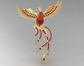 3D Golden Phoenix Pendant jewelry