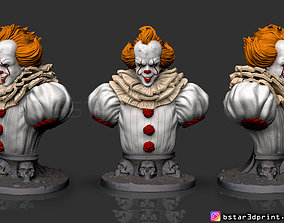 pennywise Bust High quality - IT 3D printable model 3