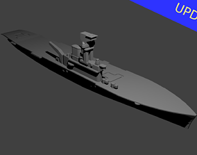 British Aircraft Carrier Hermes 3D printable model