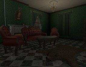 Vintage Victorian Living Room Pack With PBR 3D asset