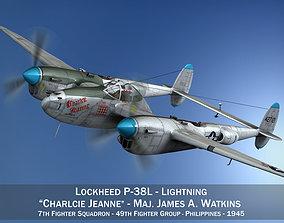 3D Lockheed P-38 Lightning - Charlcie Jeanne