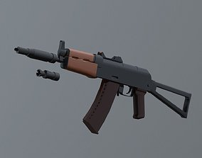 3D asset AKS 74 U with PBS4