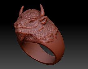 3D print model ring bison