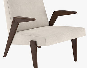 West Elm Gisele Mid-Century Show Wood Chair 3D