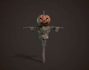 death Pumpkin Scarecrow 3D model