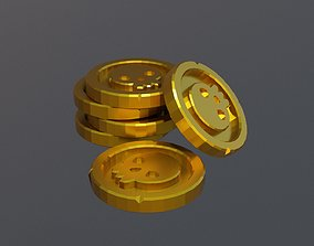 game-ready Pirate Coin 3D Lowpoly Model