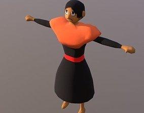 3D model Andine people