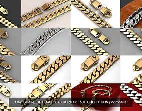 LINK CHAIN FOR BRACELETS OR NECKLACE COLLECTION 3D