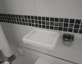 Soap bar Holder Bathroom - Soap 3D printable model 3