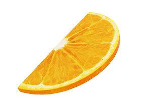orange 3D Orange round slice half