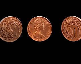 3D model 1 Cent NZ