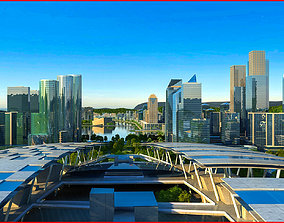 Modern City Animated 103 3D
