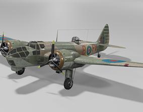 3D asset Bristol Blenheim MK IV Light bomber