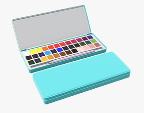 3D Paint set watercolor