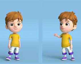 3D asset Kain Cartoon Boy Character Turntable