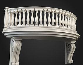 3D model classicism Balcony