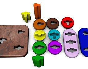 Wooden toy for children 3D print model