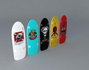 3D 80s Powell Peralta skateboard deck