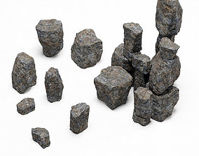 3D Rock stone collection n8