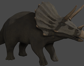 triceratops 3D model paleontology