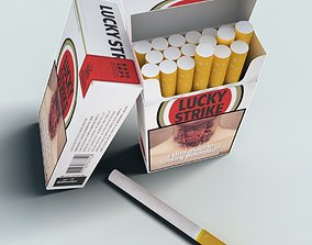 3D Lucky Strike cigarette pack