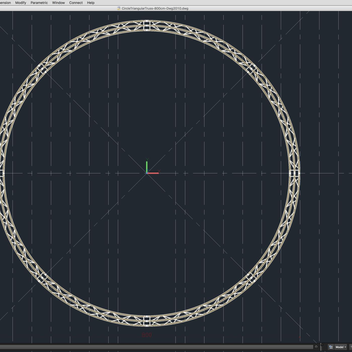 Circle Triangular Truss (Full diameter 800cm)