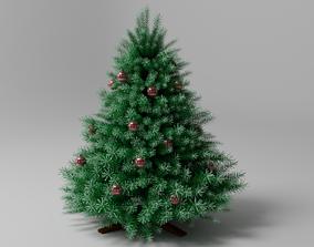 New Year Christmas tree xmas 3D