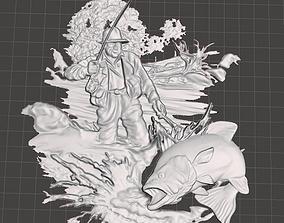 3D printable model fisherman