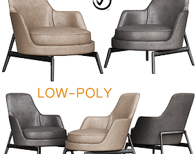 Flexform Leda Armchair 3D model low-poly