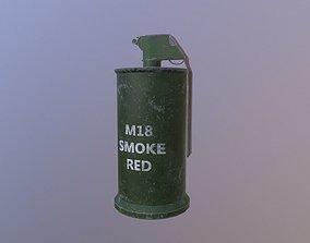 Smoke M18 Red 3D model