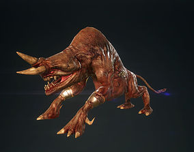 3D asset Horned Monster