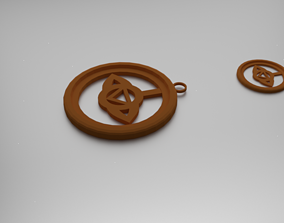 3D printable model Anja Third Eye Chakra Pendant