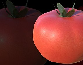 3D model low-poly Tomato
