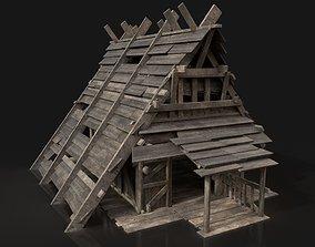 Viking Simple House Cottage Hut Northern 3D asset 4