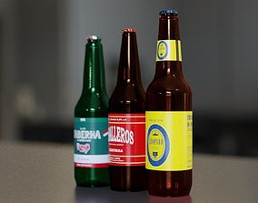 3D model Beer Bottles Collection - 3 Items