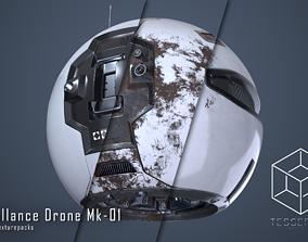 3D PBR Surveillance Drone Mk1 Pack