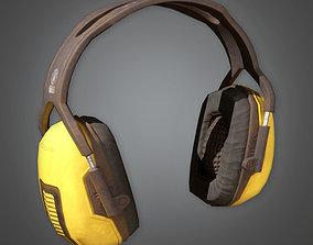 Working Ear Protectors TLS - PBR Game 3D model