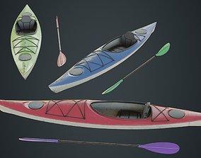 Kayak 2B 3D asset realtime
